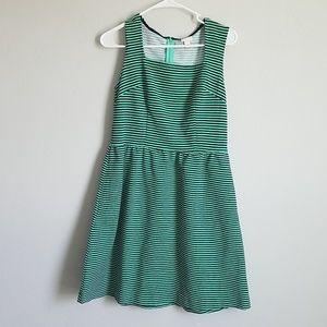 Merona Green and Navy Dress